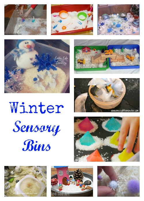 Winter Sensory Bins