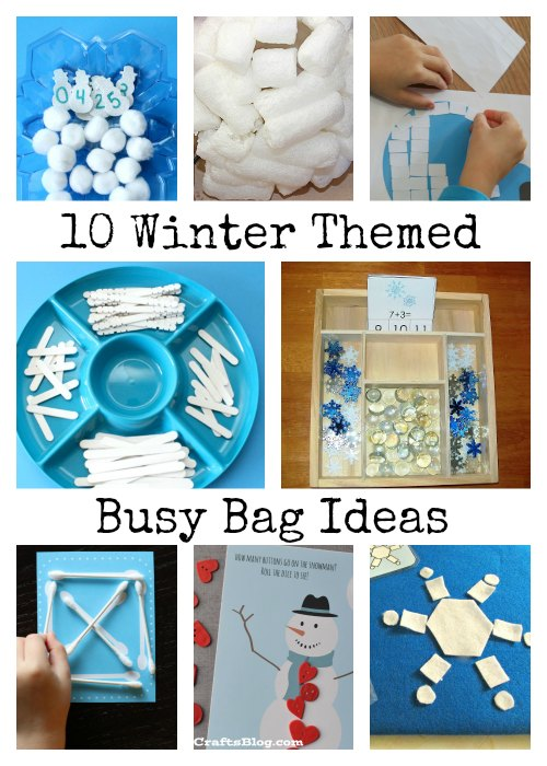 Winter Themed Busy Bag Ideas