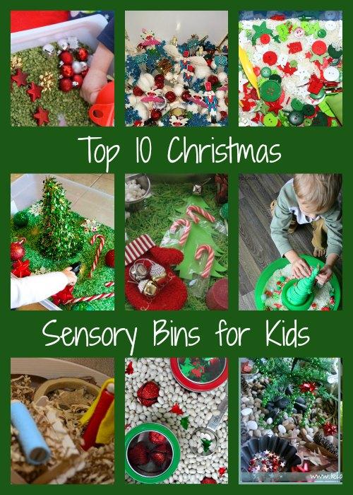 top 10 Christmas Sensory bins for Kids