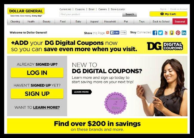 DG Digital Coupon pc