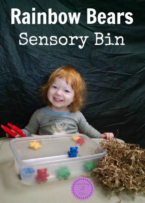 Rainbow Bears Sensory Bin