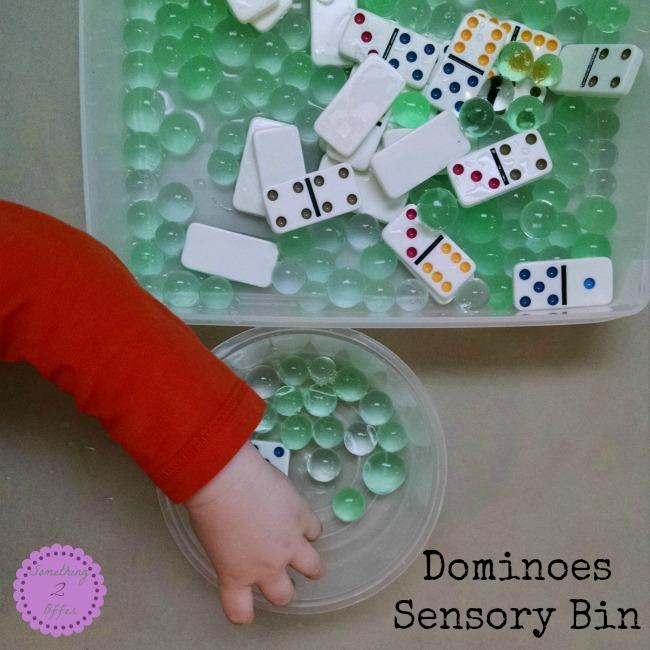 Dominioes Sensory Bin