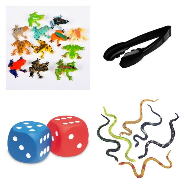 Frogs Snakes Dice Tongs