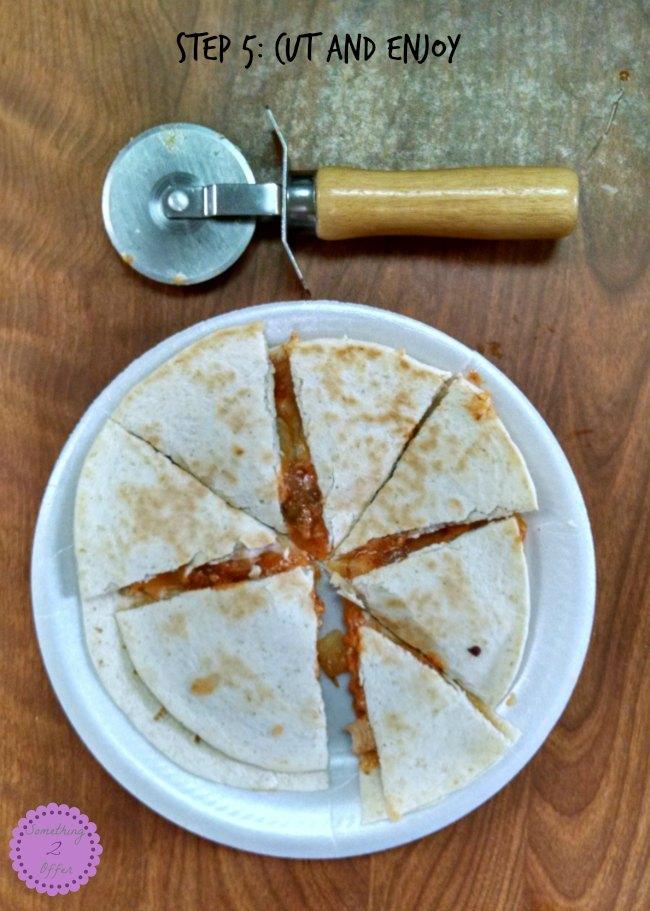 quesadilla step 5
