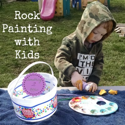 Rock painting with kids