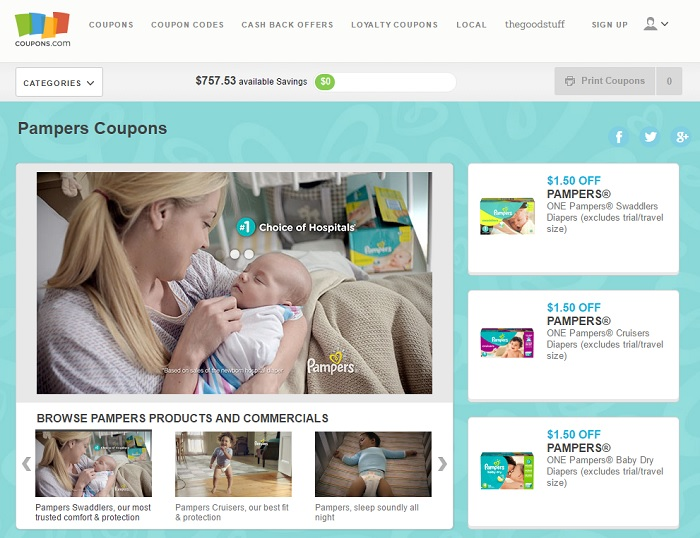 pampers printable coupon