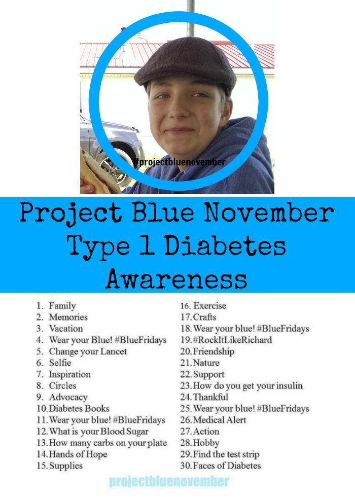 Project Blue November Type 1 Diabetes Awareness
