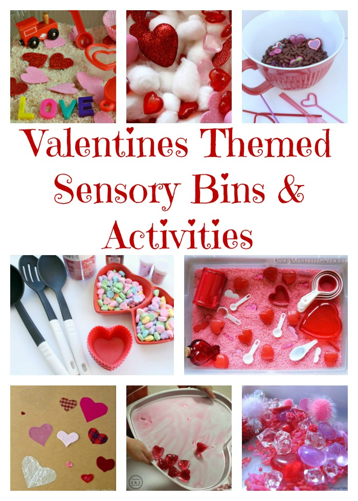 Valentines Sensory Bins and Activities