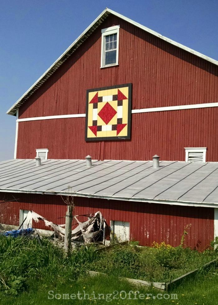 Barn Quilt on Red barn