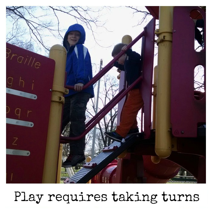 Play requires taking turns