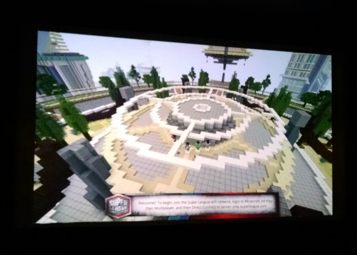 Minecraft on big screen Super League Gaming