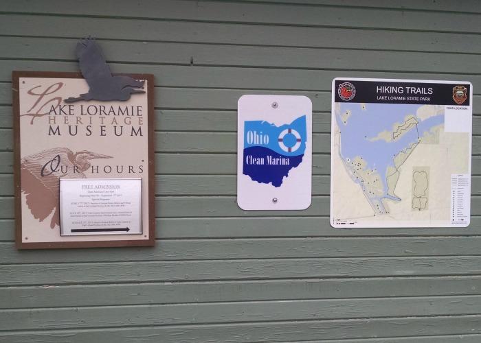 Lake Loramie State Park hiking trail signs