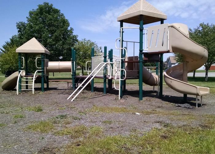 Back of play structure Robert M. Davis Park Piqua, Ohio