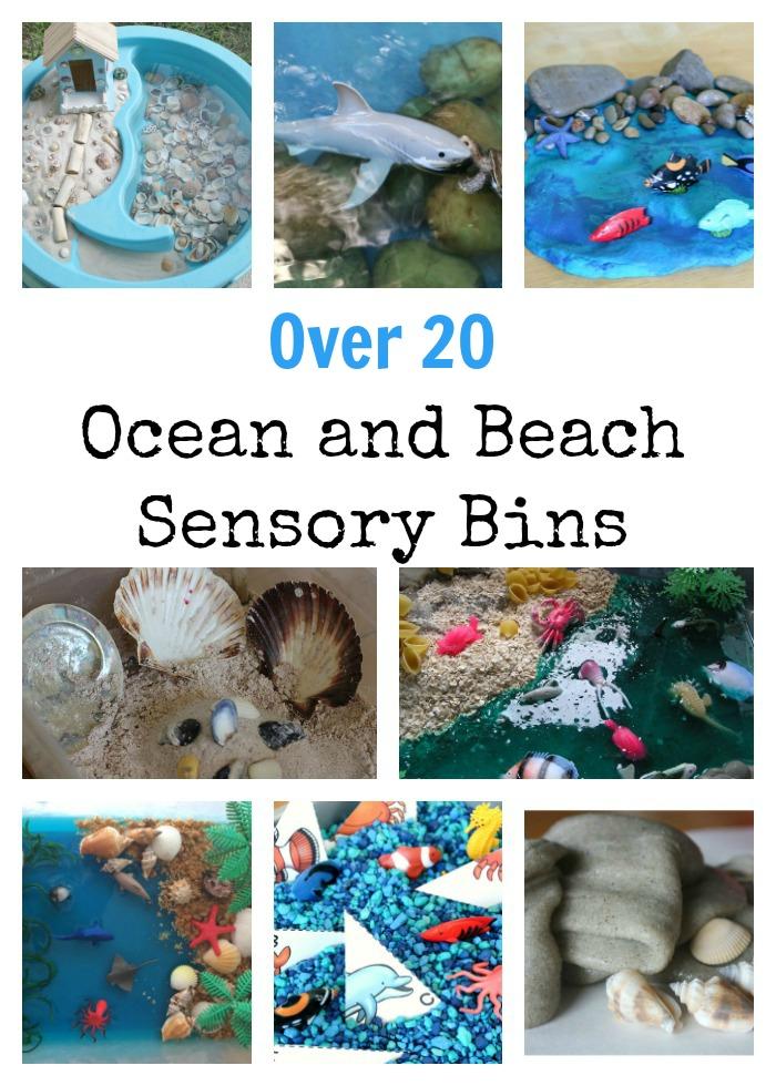 Beach and Ocean Sensory Bins