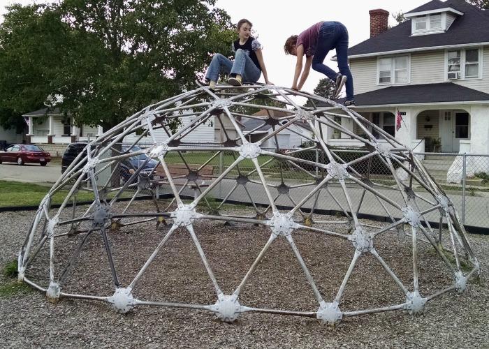 Metal Climbing Dome at Kiwanis Park