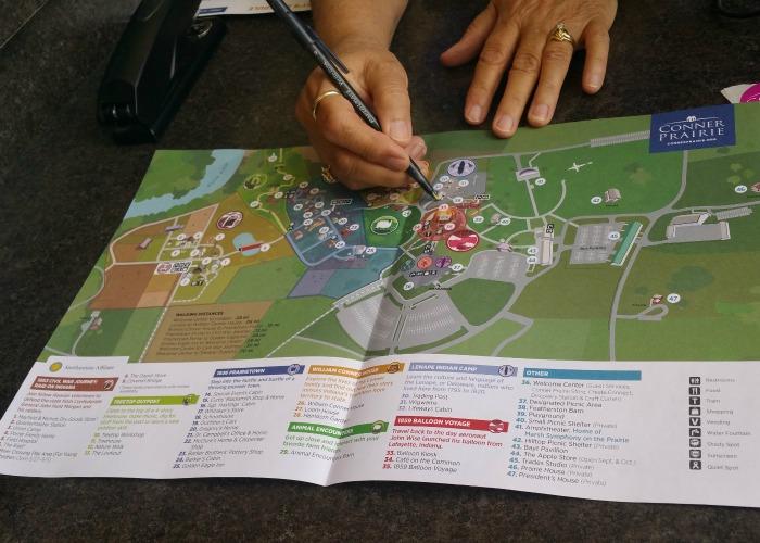 Conner Prairie Map