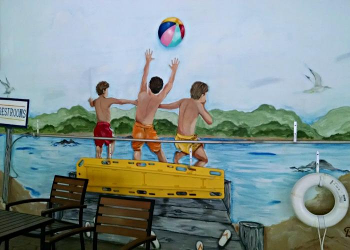 Comfort Suites pool mural