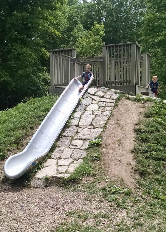 Englewood Metroparks Slide in Hill