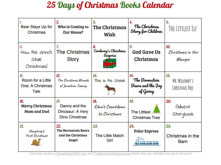 Christmas Books Calendar