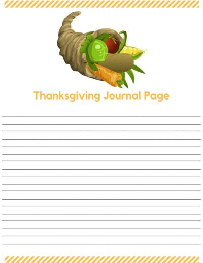 Thanksgiving Journal Pages narrow