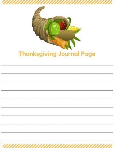 Thanksgiving Journal Pages wide