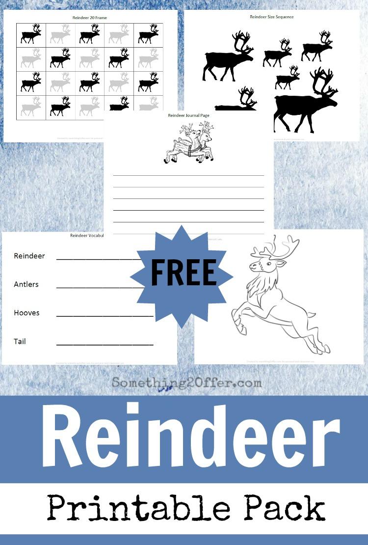 Free Reindeer Printable Pack