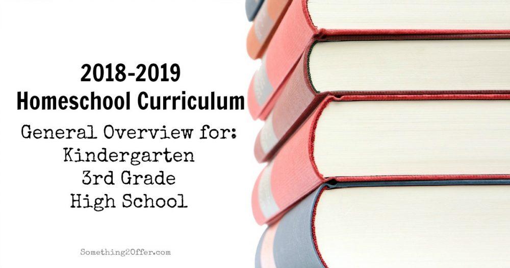 homeschool curriculum 2018-2019