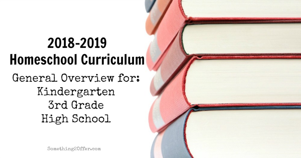 homeschool curriculum 2018-2019