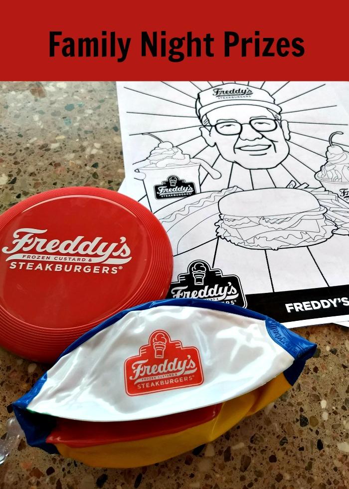 Freddy's Family Night prizes