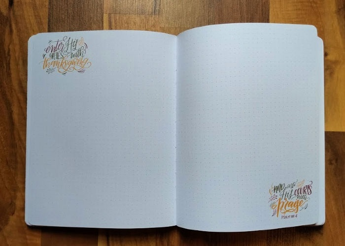 Faith & Lettering Journal inside