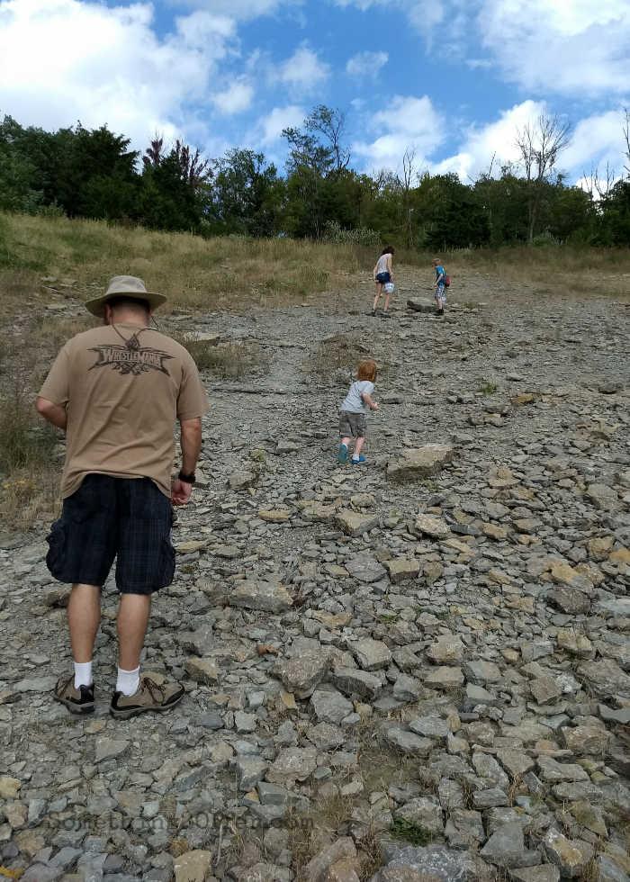 Trammel Fossil Park climbing hill