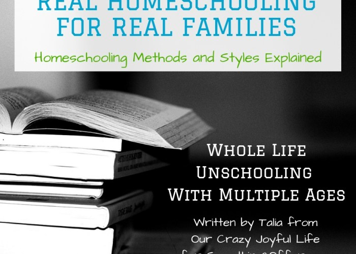 Whole Life Unschooling with Multiple Ages {Real Homeschooling for Real Families}