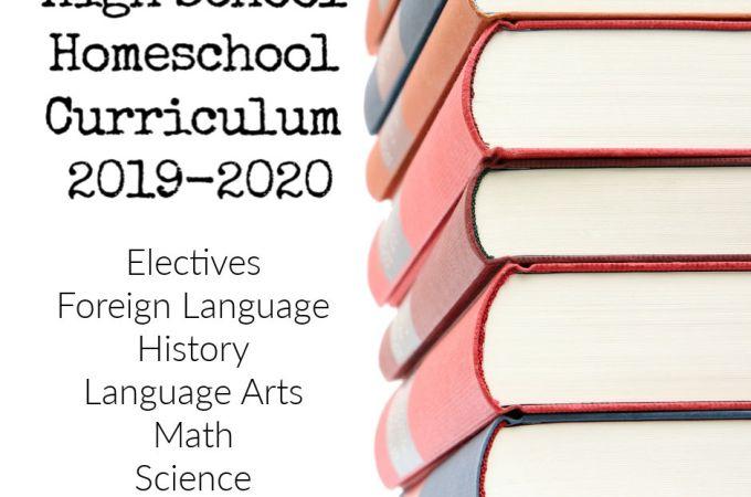 2019-2020 High School Curriculum