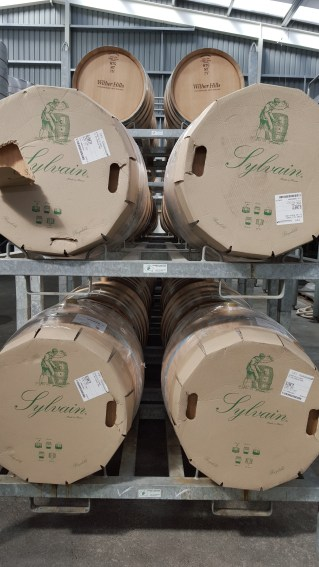 Brand spanking new French oak barrels