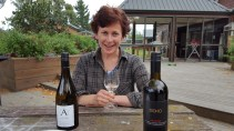 One very happy camper with Chenin Blanc and Waiheke red delights