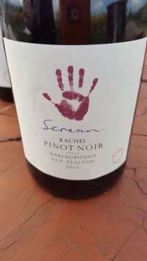 2012 Rachel Pinot Noir; serious and structured with dark cherry, smoke, earth and spice.