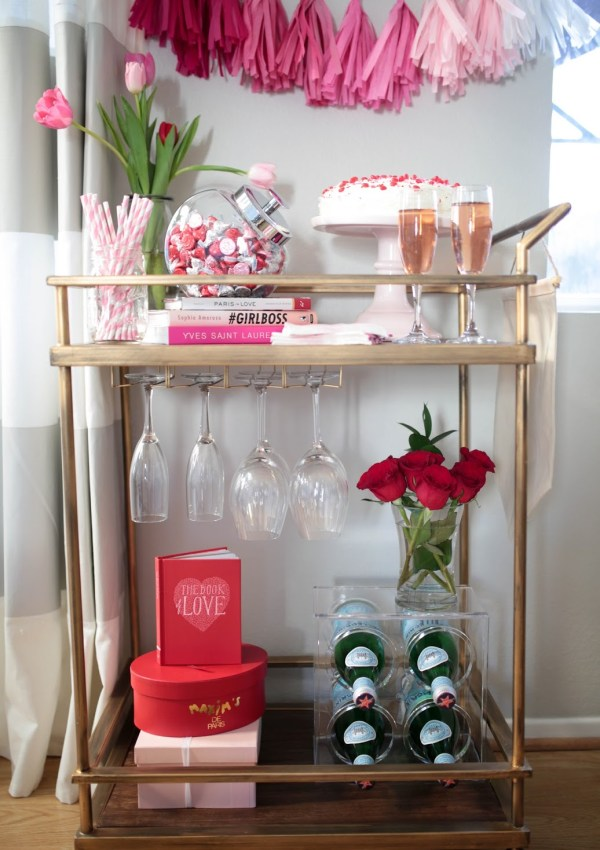 Valentine's Day Bar Cart