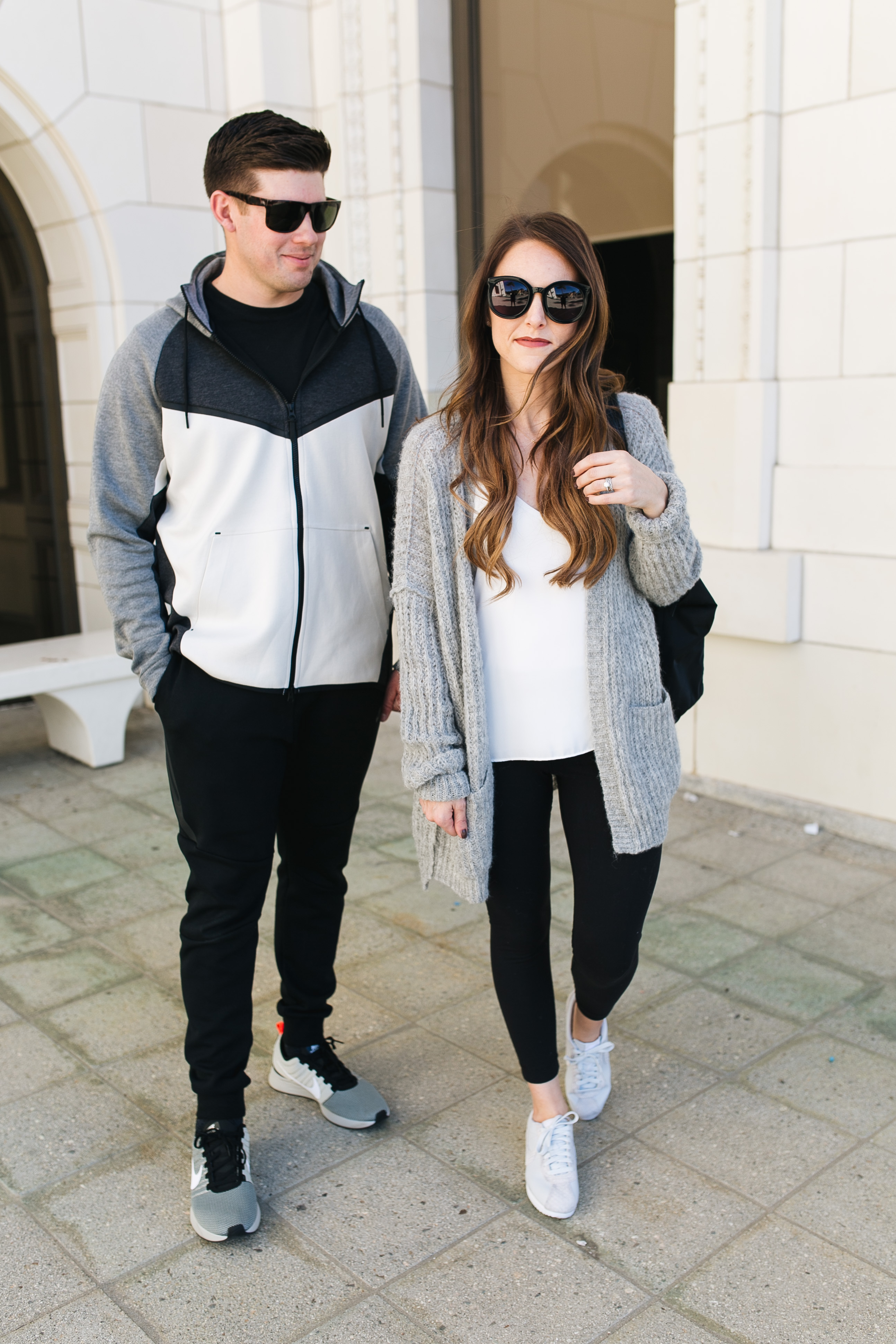 Style blogger Daryl-Ann Denner shares travel style inspiration for men and women including nike shoes and joggers