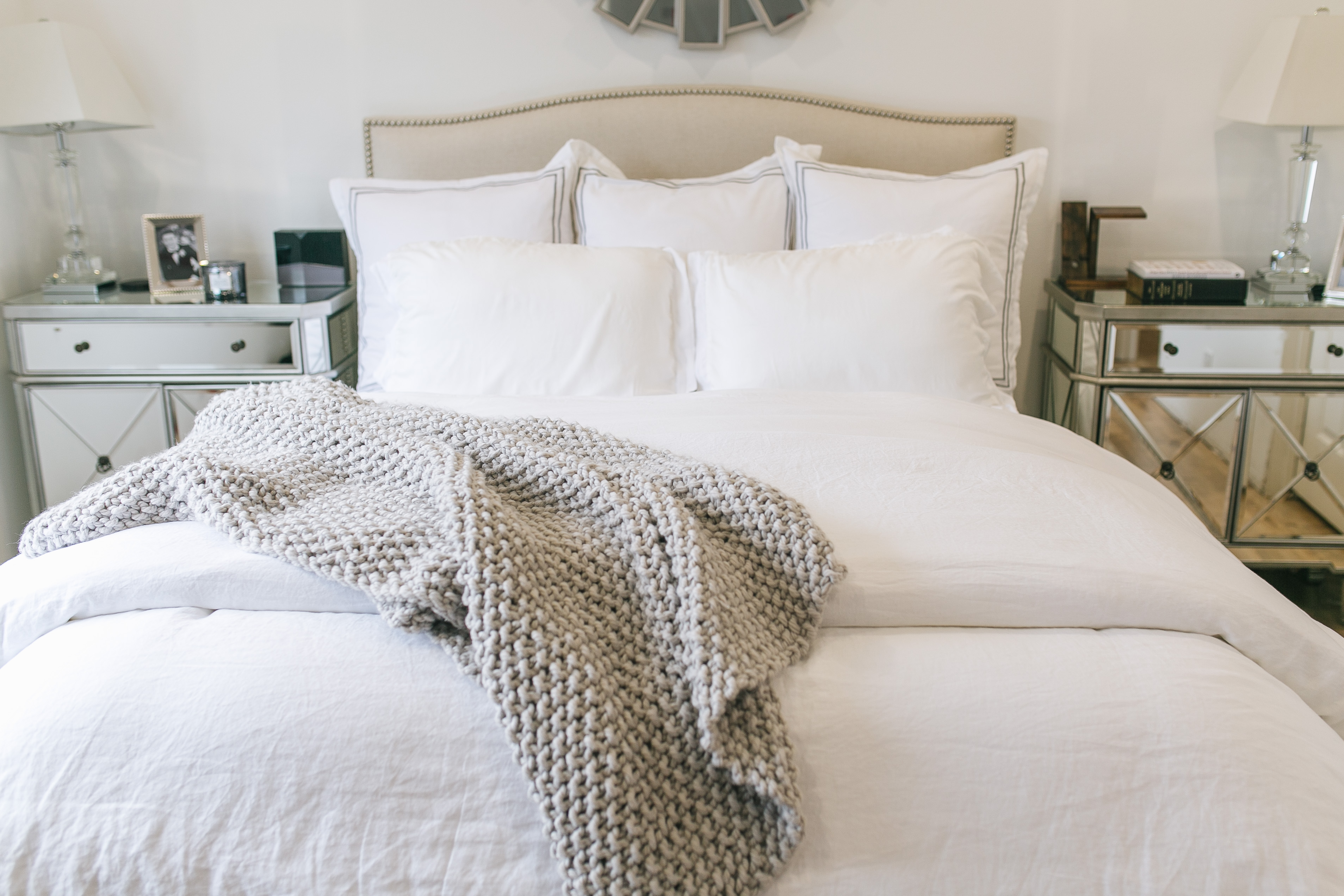 All White Bedding
