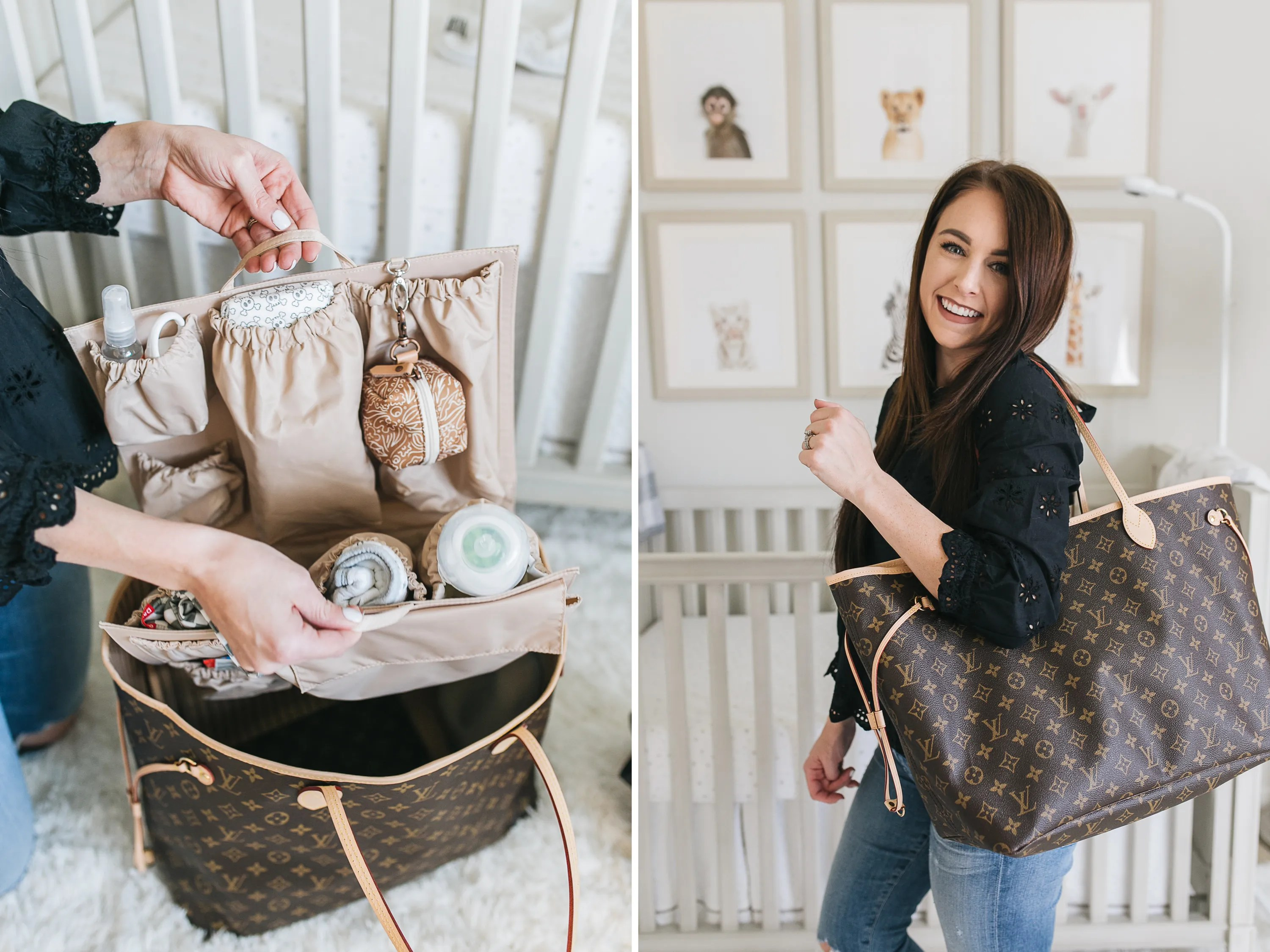 28989d37143b So I originally purchased the Louis Vuitton Neverfull GM (the largest size)  with the intention of using it as my only diaper bag. ToteSavvy sent me one  of ...