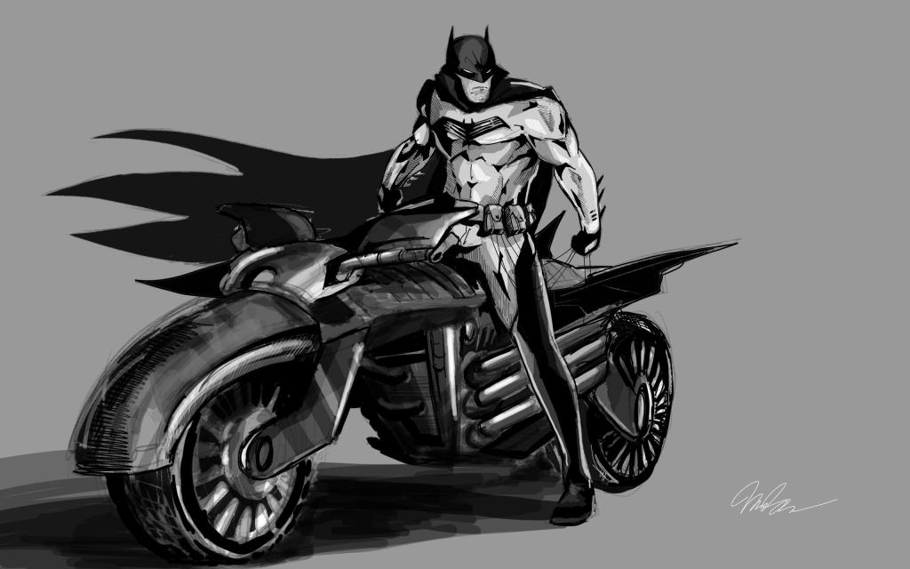 The White Knight batsuit.