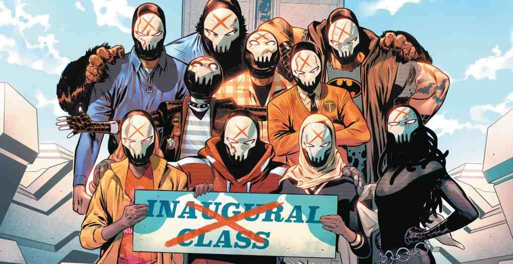 The new recruits in Teen Titans Academy #2.