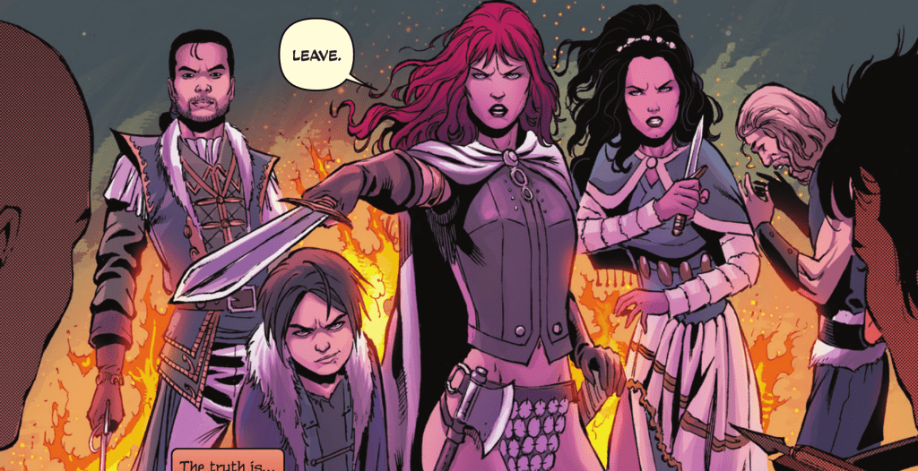 Red Sonja is telling people to leave her and her band of artisans alone.