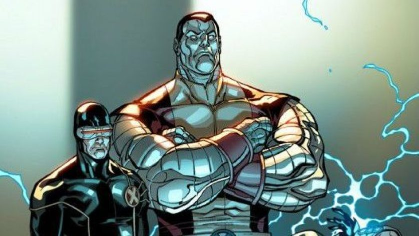 Cyclops and Colossus standing side-by-side.
