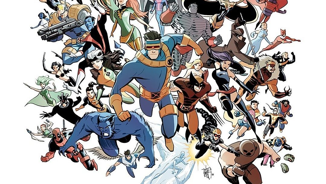 A collage of all the X-Men you can have in an X-Men game.