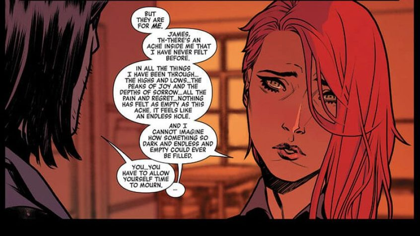 Black Widow has an honest conversation with the Winter Soldier about missing her family.