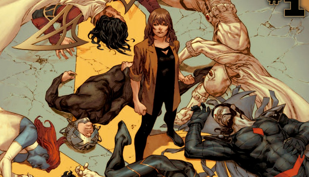 Marvel Inferno begins, with Moira McTaggert standing over the bodies of the Quiet Council.