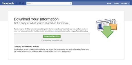 Dallas social media speaker J.R. Atkins reccommends down loading your Facebook data