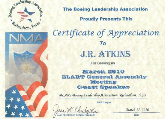 A sampling of the recognition received by J.R. Atkins, Professional Speaker, Author of Success Simplified and Consultant on Social Media, Mobile Apps and Marketing