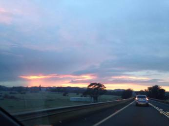 morning drive to hobart